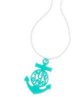 Anchor Acrylic Monogram Necklace