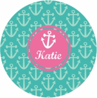 Anchor Personalized Kids Plate - CHOOSE YOUR DESIGN!