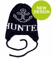 Anchor Personalized Knit Hat with Earflaps