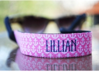 Anchor Pink Personalized Sunglasses Strap