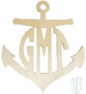 Anchor Wood Wall Monogram