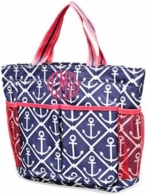 Anchors Monogrammed Shower Caddy