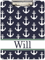 Anchors Navy Personalized Clipboard