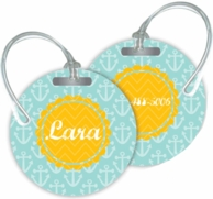 Anchors Personalized Bag Tags - SET OF 2 - CHOOSE YOUR DESIGN!