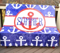 Anchors Personalized Fleece Throw Blanket