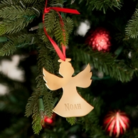Angel Personalized Mirrored Acrylic Ornament