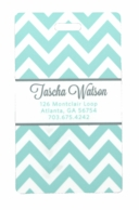 Aqua Chevron Personalized Luggage Tags - SET OF 2