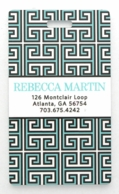 Aqua Greek Key Personalized Luggage Tags - SET OF 2
