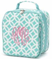 Aqua Sadie Personalized Lunch Tote