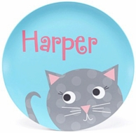 Are You Kitten Me? Personalized Kids Plate