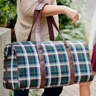 Avery Plaid Monogrammed Duffel