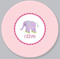 Baby Elephant Personalized Kids Plate