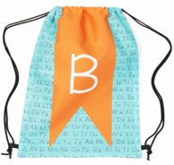 Banner Initial Personalized Drawstring Backpack