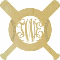 Baseball Bats Wood Wall Monogram Decor