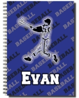 Baseball Personalized Spiral Notebook