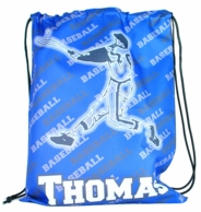 Baseball Player Personalized Drawstring Backpack