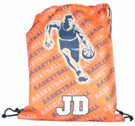 Basketball Player Personalized Drawstring Backpack