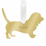 Basset Hound Personalized Pet Ornament