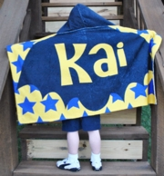 Batboy Personalized Hooded Towel