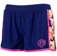 Beach Floral Monogrammed Active Sport Shorts