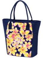 Beach Floral Monogrammed Cooler Tote