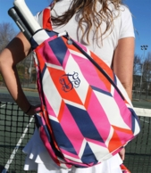 Beau and Arrow Monogrammed Tennis Sling Backpack