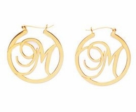 Beso Initial Hoop Earrings