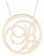 Beso Script Single Initial Necklace