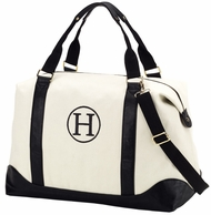 Black Canvas Sullivan Monogrammed Weekender Bag
