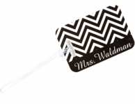 Black Chevron Mrs. Luggage Tag