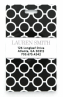 Black Circles Gray Personalized Luggage Tags - SET OF 2
