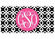 Black Diamonds Monogrammed Car Tag