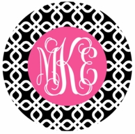 Black Diamonds Monogrammed Coasters