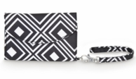 Black Geo Cell Phone ID Wristlet