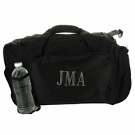Black Monogrammed Gym Duffle Bag