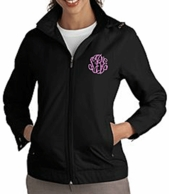 Black Monogram Rain Jacket