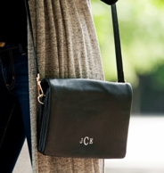 Black Monogrammed Palmer Crossbody Purse