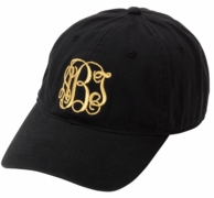 Black Monogrammed Women's Baseball Cap