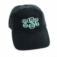 Black Monogrammed Women's Baseball Hat