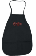 Black Personalized Monogram Children's Apron