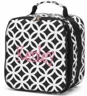 Black Sadie Personalized Lunch Tote