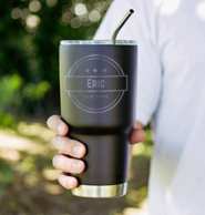 Black Stainless Steel Personalized 30oz Groomsman Tumbler