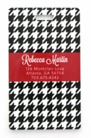 Black & White Houndstooth Personalized Luggage Tags - SET OF 2