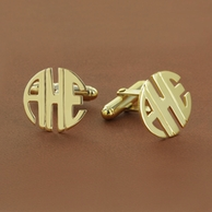 Block Monogram Custom Cuff Links