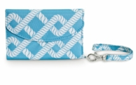 Blue Coastal Links Cell Phone ID Wristlet