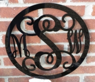 Bordered Acrylic Monogram Wall Hanging