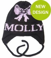 Bow Personalized Knit Hat with Earflaps