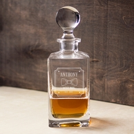 Bow Tie Personalized Groomsmen Whiskey Decanter