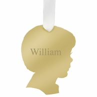 Boy Will Personalized Silhouette Ornament