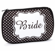 Bride Zipper Top Cosmetic Bag